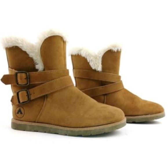 106fb3cd39dde Airwalk Nia Ankle Boots Size 4 Tan Faux Fur Trim. Airwalk.  M_5b75dbfe5c44527779695c7e. M_5b75dbfebaebf6ec90912aa2.  M_5b75dbfeaaa5b80e6330ee57